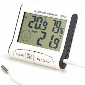 PoloMar KEMOT Station météo numérique Thermomètre Hygromètre pour intérieur et extérieur de la marque PoloMar image 0 produit