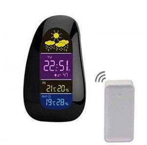 PowerLead Horloges stations météo LED Intérieur Extérieur Horloges stations météoTempérature Humidité Réveil-matin RF Remote Sensor de la marque PowerLead image 0 produit