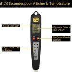 Professionnel Thermomètre à Viande pour Barbecue Numérique - Double Sondes et Rappel Automatique Idéal pour BBQ Griller Cuisson de la marque Glamouric image 3 produit