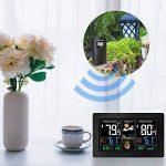 Protmex Prévisions sans Fil Station Météo, PT3378 numérique des Couleurs with Alerte et Température/Humidité/Baromètre/Alarme/Phase de Lune/Horloge Atomique Charge USB avec capteur extérieur de la marque Protmex image 6 produit