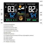 Protmex Prévisions sans Fil Station Météo, PT3378 numérique des Couleurs with Alerte et Température/Humidité/Baromètre/Alarme/Phase de Lune/Horloge Atomique Charge USB avec capteur extérieur de la marque Protmex image 1 produit