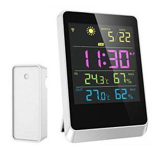 PYRUS Réveil de la station météo numérique, Unité intérieure filaire Réveil de la station météo sans fil Unité avant KD-03 avec grand écran LCD de la marque PYRUS image 0 produit