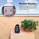 PYRUS Station météo, Horloge de station météo écran LED et capteur sans fil, affichage météo, humidité, température, temps de la marque PYRUS image 4 produit