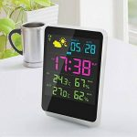 Réveil extérieur numérique d'intérieur de station météorologique avec l'affichage de temps de date d'écran de LED de la marque Zantec image 1 produit