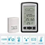 Réveil numérique sans fil pour station météo HopCentury avec capteur extérieur intérieur, température d'affichage et humidité faciles à lire de la marque HopCentury image 2 produit
