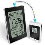 Réveil, Protmex Digital Station météo sans fil avec alarme, fonction de répétition, intérieur/extérieur Température/d'humidité, fonction de phases de la lune de la marque Protmex image 1 produit
