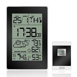 Réveil, Protmex Digital Station météo sans fil avec alarme, fonction de répétition, intérieur/extérieur Température/d'humidité, fonction de phases de la lune de la marque Protmex image 0 produit