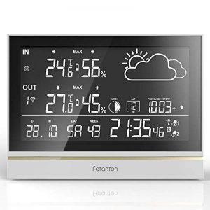 Station Météo avec affichage gigantesque ,Weather Station sans fil avec Température / Humidité Intérieur/Extérieur de la marque fetantentool image 0 produit
