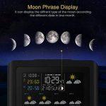 Station Météo, DIGOO DG-TH8805 Station météo Hygromètre Thermomètre Intérieur/Extérieur Sans fil Temps Température Alarme Prévisions Météo Humidité Les changements de lune l'écran d'affichage LED de la marque DIGOO image 4 produit