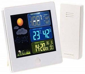 Station météo & horloge radio-pilotée avec capteur extérieur FWS-260 - Blanc de la marque Infactory image 0 produit