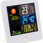 Station météo & horloge radio-pilotée avec capteur extérieur FWS-260 - Blanc de la marque Infactory image 1 produit