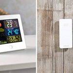 Station météo & horloge radio-pilotée avec capteur extérieur FWS-260 - Blanc de la marque Infactory image 3 produit