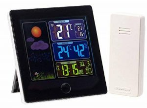 Station météo & horloge radio-pilotée avec capteur extérieur FWS-260 - Noir de la marque Infactory image 0 produit