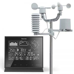 Station météo professionnelle, 8 en 1 LCD IN / OUT Station de prévision sans fil avec pluviomètre/ vitesse du vent et direction/ UV de la marque Fetantenclock image 0 produit