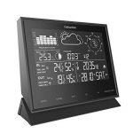 Station météo professionnelle, 8 en 1 LCD IN / OUT Station de prévision sans fil avec pluviomètre/ vitesse du vent et direction/ UV de la marque Fetantenclock image 1 produit