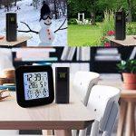Station météo sans fil avec 3 capteurs extérieurs sans fil, horloge, alarme, température, humidité, affichage facile à lire avec rétro-éclairage LED de la marque TekcoPlus image 2 produit
