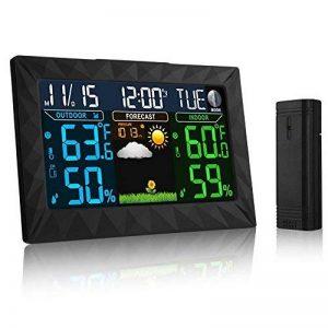 Station Météo sans fil, iLifeSmart Digital Thermomètre Hygromètre avec Capteur Intérieur/Extérieur, Thermomètre d'humiditépour Maison / Cuisine / Bureau de la marque iLifeSmart image 0 produit
