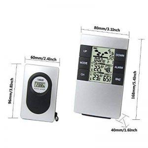 Station météo sans fil Thermomètre numérique et hygromètre avec capteur à distance Usage intérieur et extérieur utilisation de porte de la marque Color Stone E-commerce image 0 produit