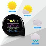 Station météorologique de petite taille, Eaiitty Mini Smart numérique sans fil intérieure / extérieure température humidité moniteur rétro-éclairage réveil avec capteur extérieur de la télécommande de la marque Eaiitty image 2 produit