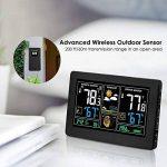 Station météorologique de prévision de PT3378, baromètre, réveil avec l'écran de couleur, sonde extérieure sans fil, heure / date / affichage de semaine, humidité de la température pour la maison, bureau (port d'USB) de la marque Genérico image 3 produit