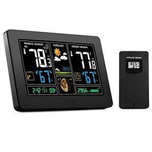 Station météorologique de prévision de PT3378, baromètre, réveil avec l'écran de couleur, sonde extérieure sans fil, heure / date / affichage de semaine, humidité de la température pour la maison, bureau (port d'USB) de la marque Genérico image 0 produit