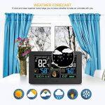 Station météorologique de prévision de PT3378, baromètre, réveil avec l'écran de couleur, sonde extérieure sans fil, heure / date / affichage de semaine, humidité de la température pour la maison, bureau (port d'USB) de la marque Genérico image 4 produit