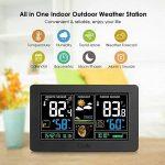Station météorologique de prévision de PT3378, baromètre, réveil avec l'écran de couleur, sonde extérieure sans fil, heure / date / affichage de semaine, humidité de la température pour la maison, bureau (port d'USB) de la marque Genérico image 1 produit