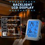 SUMGOTT Thermomètre Hygromètre Digital interieur Température Humidité Écrans tactiles Grand Rétroéclairage LCD, Min/Max Records for à la maison, à la cave à vin de la marque SUMGOTT image 4 produit
