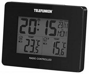 Telefunken 1870-0003 Fts-40 Station Météo sans Fil avec Baromètre Plastique Noir 10 x 3,5 x 7,5 cm de la marque Telefunken image 0 produit