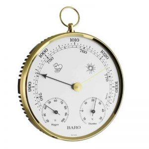 TFA Dostmann 20.3006.32 Baromètre/thermomètre/hygromètre Boîtier avec anneau en laiton 135 mm 320 g de la marque TFA-Dostmann image 0 produit