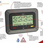 TFA Twister 300 35.5047.IT Station météo radio pilotée par satellite avec technologie WETTERdirekt et avertissement en cas de mauvais temps, 4jours de prévisions pour plus de 300zones géographiques en Allemagne de la marque TFA image 1 produit