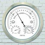 The Garden & Home Co. Station météo analogique Horloge Murale Métal 30 x 4 x 30 cm 17218 de la marque The Garden & Home Co. image 2 produit