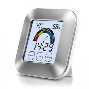 Thermo-Hygromètre Electronique Intérieur - Thermomètre Hygromètre Numérique LED Rétro-Eclairage Mémoire Max/Min Température Humidité, Deux Piles Inclus, Station Métro de la marque Adoric image 0 produit
