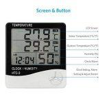 Thermomètre Hygromètre avec Sonde Intérieur et Extérieur pour Maison ou Bureau Réveil Alarm Numérique avec Écran LCD Digital Moniteur Température Humidité - Câble de Sonde 1.45 Mètres de la marque Tsumbay image 5 produit
