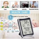 Thermomètre Hygromètre Intérieur, E2Buy® Thermomètre interieur numérique à écran LCD intérieur, Hygrothermographe numérique, moniteur de température et d'humidité avec enregistrements MIN / MAX de la marque E2Buy image 3 produit