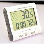 Thermomètre hygromètre numérique, multifonction LCD Horloge Thermomètre Hygromètre Numérique Station météo avec thermomètre hygromètre intérieur de la marque Amasawa image 2 produit