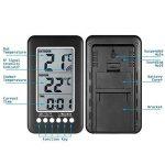 Thermomètre Intérieur Extérieur Sans fil NeKan Affichage LCD en de Température et Horloge Digital Thermomètre Maison Cuisine Bureau (Émetteur 1) de la marque NeKan image 1 produit