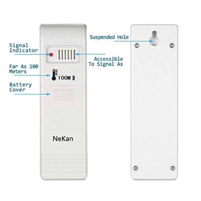 Exing Thermom/ètre ext/érieur ext/érieur pour Voiture LCD LCD avec c/âble 1,5 m