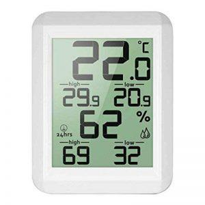 Thermomètre digital LCD hygromètre Température électronique hygromètre MIN / MAX Records intérieur extérieur Station météorologique Regard Natral de la marque Regard Natral GJ image 0 produit