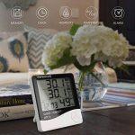 Thermomètre Hygromètre avec Sonde Intérieur et Extérieur pour Maison ou Bureau Réveil Alarm Numérique avec Écran LCD Digital Moniteur Température Humidité - Câble de Sonde 1.45 Mètres de la marque Tsumbay image 1 produit