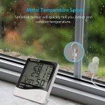 Thermomètre Hygromètre avec Sonde Intérieur et Extérieur pour Maison ou Bureau Réveil Alarm Numérique avec Écran LCD Digital Moniteur Température Humidité - Câble de Sonde 1.45 Mètres de la marque Tsumbay image 3 produit