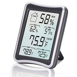 Thermomètre Hygromètre Intérieur, E2Buy® Thermomètre interieur numérique à écran LCD intérieur, Hygrothermographe numérique, moniteur de température et d'humidité avec enregistrements MIN / MAX de la marque E2Buy image 0 produit