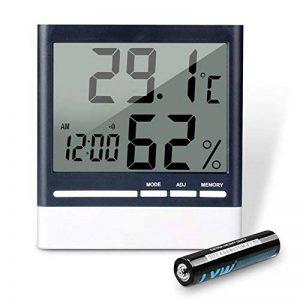 Thermomètre Hygromètre Numérique, aLLreLi Thermo-Hygromètre Electronique Intérieur LCD Digital Sans Fil, Thermomètre Chambre Bébé de la marque aLLreLi image 0 produit