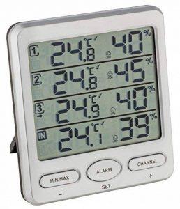 Thermomètre Hygromètre sans fil TFA 30.3054 Klima-Monitor + 3 capteurs (Argent) de la marque TFA-Dostmann image 0 produit