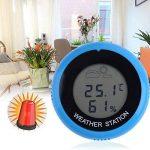 Thermomètre Hygromètre,vanpower Thermomètre numérique rond hygromètre thermomètre station météo de la marque vanpower image 1 produit