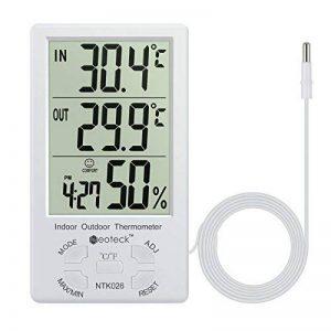 thermomètre intérieur extérieur avec sonde fil TOP 2 image 0 produit