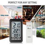 Thermomètre Intérieur Extérieur Sans fil NeKan Affichage LCD en de Température et Horloge Digital Thermomètre Maison Cuisine Bureau (Émetteur 1) de la marque NeKan image 4 produit