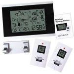 Thermomètre intérieur Température extérieure Humidité Radio-réveil station météo numérique sans fil multi paramètres qualité de l'eau numérique Testeur contrôlée de la marque Gain Express image 1 produit