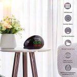 Thermomètre Station météo, réveil station météo numérique sans fil avec écran LED Intérieur humidité extérieure et moniteur de température Prévision météo universelle avec capteur extérieur (noir) de la marque TinMiu image 1 produit