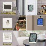 ThermoPro TP-55 Thermomètre Hygromètre Numérique, Rétroéclairage Bleu, Grand Écran LCD Tactile, Détecteur de Température/ Humidité Sans Fil de la marque ThermoPro image 4 produit